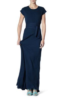 Rosen gown navy front 1