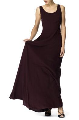 Drew gown burgundy front 2