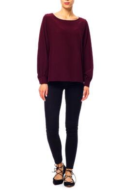 Elise blouse burgundy front