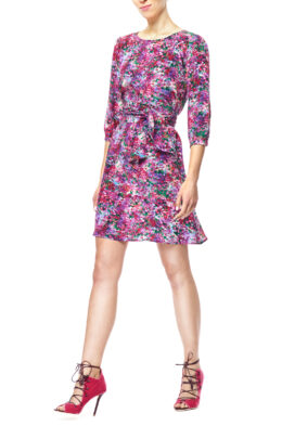 Hanna pink floral front