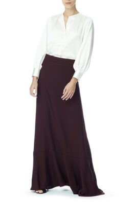 Lily skirt burgundy front 1