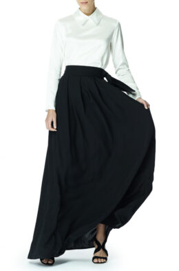 Louise skirt black front 1
