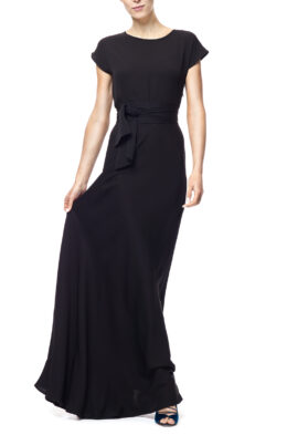 Rose gown black front
