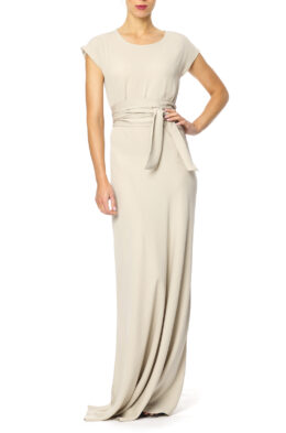 Rose gown cold beige