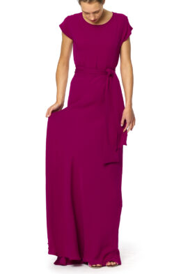 Rose gown red currant front