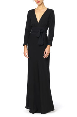 Carine gown black front