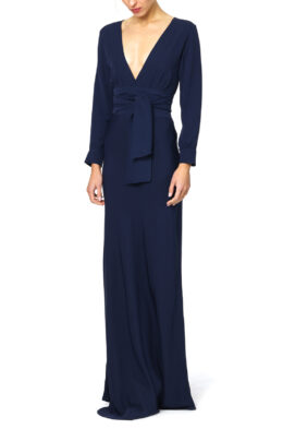 Carine gown navy front